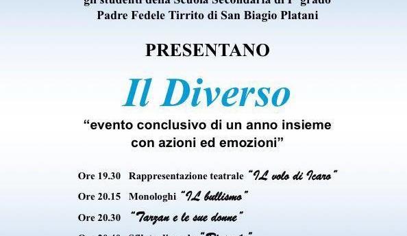 """San Biagio Platani: """"Il Diverso"""" manifestazione conclusiva dell'Istituto sambiagese anche in DVD"""